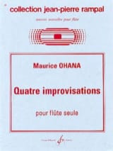 Quatre improvisations Maurice Ohana Partition laflutedepan.com