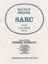 Sarc Maurice Ohana Partition Hautbois - laflutedepan.com