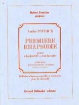 Rhapsodie n° 1 André Patrick Partition Clarinette - laflutedepan.com