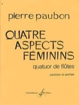 Quatre Aspects Feminins Pierre Paubon Partition laflutedepan.com