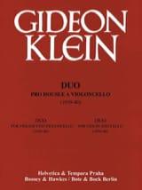 Duo für Violine und Violoncello Gideon Klein laflutedepan.com