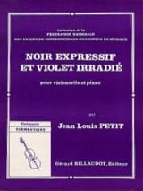 Noir expressif et violet irradié Jean-Louis Petit laflutedepan.com