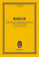 Gustav Mahler - Lieder eines fahrenden Gesellen - Partition - di-arezzo.fr