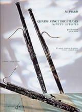 90 Etudes - volume 1 Marius Piard Partition Basson - laflutedepan.com
