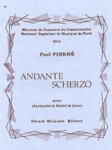 Andante Scherzo Paul Pierné Partition Clarinette - laflutedepan.com