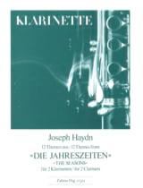 HAYDN - Die Jahreszeiten, 12 Themen - 2 Klarinetten - Sheet Music - di-arezzo.com