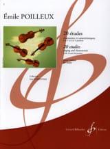 20 Etudes Emile Poilleux Partition Violon - laflutedepan.com