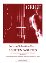BACH - 6 Suites BWV 1007-1012 - Violin - Sheet Music - di-arezzo.com