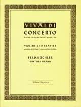 Concerto en Sol majeur – Violon - Antonio Vivaldi - laflutedepan.com
