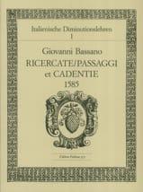 Giovanni Bassano - Ricercate, Passaggi et Cadentien 1585 - Partition - di-arezzo.fr
