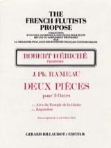Jean-Philippe Rameau - Deux pièces - 3 Flûtes - Partition - di-arezzo.fr