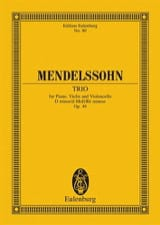 MENDELSSOHN - Klavier-Trio d-moll, op. 49 - Sheet Music - di-arezzo.co.uk