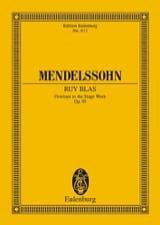 Ruy Blas, Op. 95 - Ouverture MENDELSSOHN Partition laflutedepan.com