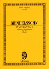 MENDELSSOHN - Symphony Nr. 4 A-Dur - Partitur - Sheet Music - di-arezzo.co.uk