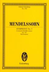 Bartholdy Felix Mendelssohn - Symphonie Nr. 5 d-moll - Partition - di-arezzo.fr