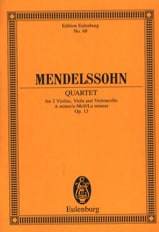 MENDELSSOHN - Streich-Quartett A-Moll Op. 13 - Sheet Music - di-arezzo.co.uk