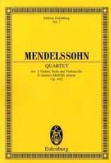 Streich-Quartett e-moll op. 44/2 MENDELSSOHN laflutedepan.com