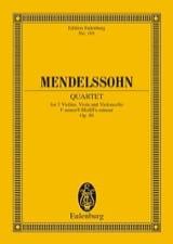Streich-Quartett f-Moll, op. 80 MENDELSSOHN Partition laflutedepan.com