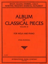 Album of classical pieces, Volume 3 Paul Klengel laflutedepan.com