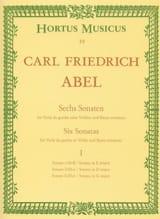 Carl Friedrich Abel - 6 Sonatas - notebook 1 - Viola da gamba o. Violine - Sheet Music - di-arezzo.com