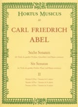 Carl Friedrich Abel - 6 sonates – cahier 2 – Viola da gamba (o. Violine, Querflöte) - Partition - di-arezzo.fr
