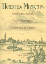 Tomaso Albinoni - Triosonate h-moll op. 1 n° 8 -2 Violinen und Bc - Partition - di-arezzo.fr