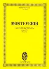 Claudio Monteverdi - Laudate Dominum - Partition - di-arezzo.fr