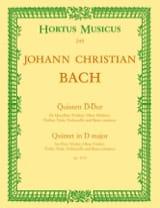 Johann Christian Bach - Quintett D-Dur op. 11 n° 6 –Flöte Oboe Violine Viola BC - Partition - di-arezzo.fr
