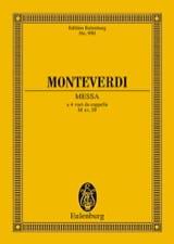 Claudio Monteverdi - Messe Nr. 2 F-Dur - Partition - di-arezzo.fr