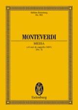 Messe Nr. 3 g-Moll MONTEVERDI Partition Petit format - laflutedepan