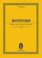 Claudio Monteverdi - Vespro della Beata Vergine - Partitur - Sheet Music - di-arezzo.co.uk