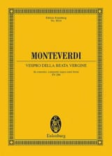 Vespro della Beata Vergine - Partitur laflutedepan.com