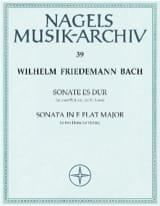 Wilhelm Friedemann Bach - Sonate Es-Dur - 2 Flöten o. Violine - Partition - di-arezzo.fr