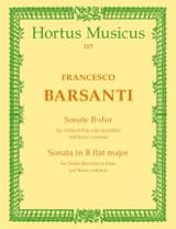 Sonate B-Dur - Altblockflöte Querflöte laflutedepan.com