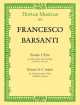 Francesco Barsanti - Sonate en Do Maj. - Partition - di-arezzo.fr