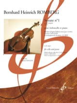 Bernhard Heinrich Romberg - Sonate n° 1 en si bémol maj. op. 43 - Partition - di-arezzo.fr