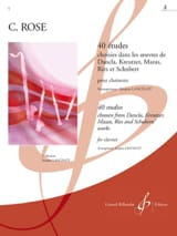 Cyrille Rose - 40 Etudes Volume 2 - Partition - di-arezzo.fr