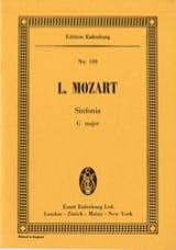 Sinfonia G-Dur für Streicher Leopold Mozart Partition laflutedepan.com