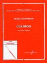 Chanson Philippe Rougeron Partition laflutedepan.com