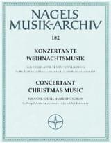 - Konzertante Weihnachtsmusik für Soloinstrumente, Streicher und Basso continuo - Partition - di-arezzo.fr