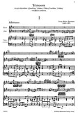 Antoine Dornel - Triosonate h-moll op. 3 n ° 3 - 2 Flöten (Oboen / Violinen) BC - Partitura - di-arezzo.it