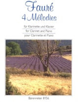 Gabriel Fauré - 4 Melodies. arranged for clarinet and piano - Sheet Music - di-arezzo.co.uk