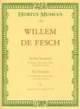 6 Sonates, Volume 2 4 à 6 Willem de Fesch Partition laflutedepan
