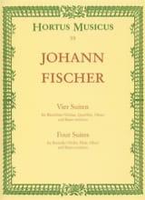Johann Fischer - Vier Suiten für Altblockflöte oder andere Melodieinstrumente und BC - Sheet Music - di-arezzo.co.uk