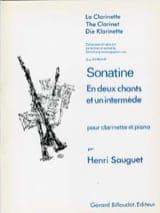 Sonatine Henri Sauguet Partition Clarinette - laflutedepan.com