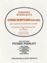 Concertino en sol pour hautbois Domenico Scarlatti laflutedepan.com