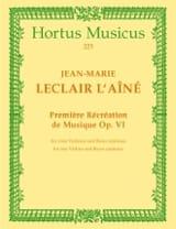 1ère Récréation de musique op. 6 -2 Violinen u. Bc laflutedepan