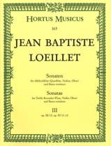 de Gant Jean Baptiste Loeillet - Sonaten - Heft 3 - Altblockflöte o. Flöte, VIoline, Oboe u. Bc - Sheet Music - di-arezzo.co.uk