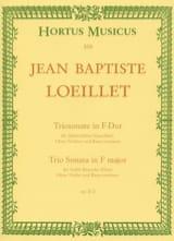 Jean-Baptiste (John) de Londres Loeillet - Triosonate F-Dur op. 2 n° 2 – Altblockflöte (Flöte), Oboe (Violine) u. Bc - Partition - di-arezzo.fr