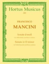 Francesco Mancini - Sonata for Altblockflöte und Basso continuo d-moll - Sheet Music - di-arezzo.com